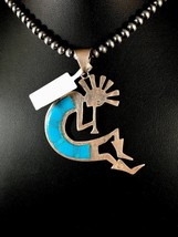 Native American Sterling Silver SB Turquoise Kokopelli Pendant Old  Pawn... - $113.60