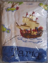 "Pottery Barn Kids Set Of 3 Towel Set Mono ""Tariq"" New Rare - $59.39"