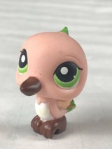 Littlest Pet Shop 343 Pink and Brown Humming Bird with Green Eyes - $9.46