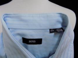 Hugo Boss Men Shirt Button Up Down Long Sleeve Striped Blue XL 17-34/35 - $13.95