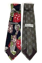 "NEW Two (2) ZYLOS George Machado Italian Silk Men's Neck Ties 55"" - $13.27"