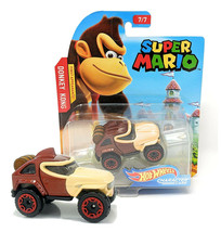 Hot Wheels Super Mario Donkey Kong Character Cars 7/7 Mint on Card - $11.88