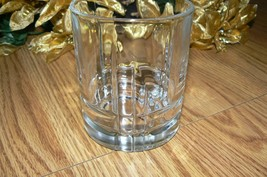 Unmarked Lovely Clear Glass Unique Designed Old Fashion Glass - $11.87