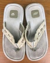 Skechers Women's Fuzzy Strap Toe Thong Sandals - Size 8 - Beige - $18.47