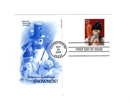 "POSTCARD- #1 ""SEASON'S GREETING FROM ALL THE SNOWMEN""-FIRST DAY ISSUE  BK10 - $1.96"