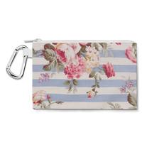 Antique Striped Floral Canvas Zip Pouch - $14.99+