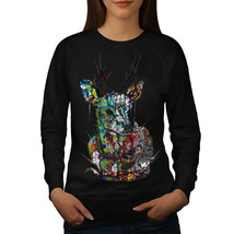 Psychedelic Nature Jumper Deer Colour Women Sweatshirt - $18.99