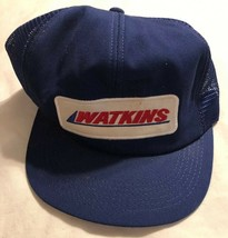 Vtg 80s Watkins Trucker Hat Cap Snapback Snap Patch K Products Made In USA - $20.78