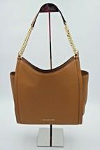 NWT MICHAEL Michael Kors Newbury Brown Leather Chain Shoulder Bag Tote N... - $198.00