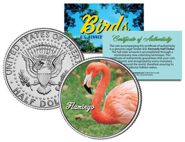 FLAMINGO BIRD JFK Kennedy Half Dollar US Colorized Coin - $8.86