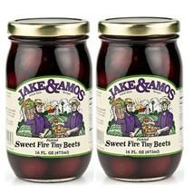 Jake & Amos Amish Made Sweet Fire Tiny Beets- 2/16 oz. Jars - $22.76
