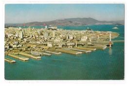 CA San Francisco Oakland Bay Bridge Embarcadero Piers Aerial View Vntg P... - $3.99