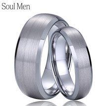 1 Pair Metal Tungsten Carbide Wedding Rings Set 8mm for Men 6mm for Wome... - $53.26