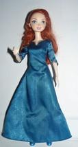 Disney Pixar BRAVE Merida Doll in blue satin outfit - $10.89