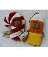 "Boyds Bears Lot of 2 Ornaments:""Lil CC"" & ""Baby C Corn"" - $19.98"