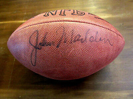 JOHN MADDEN OAKLAND RAIDERS HOF SIGNED AUTO WILSON DUKE FOOTBALL JSA NEW... - $593.99