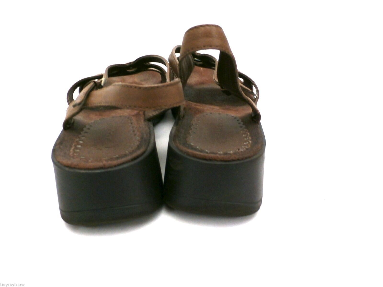 Womens Wear Ever Brown Leather Sandals Comfort Ostep 8.5 M image 3