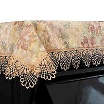 Dustproof Half Piano Cloth Floral Piano Cover Piano Dust Cover with Soluble Lace
