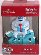 Rudolph Red Nosed Reindeer Bumble Hallmark Christmas Tree Ornament 2018 - $18.76