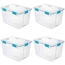 Sterilite 80 Quart Gasket Box in Clear with Blue Latches (4 Pack) | 1938... - $91.90