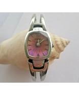 Fossil F2 ES9749 Women's Watch Silver Band Iridescent Sunburst Dial - $18.81