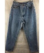 Lee High Waist Denim Medium Wash Denim Jeans Size 13 Petite Straight Leg... - $17.77
