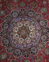 11x17 Red Traditional Handmade Fine Quality Sheik Safi Najaf Persian Rug image 10