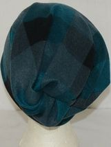 Howards Arianna Collection Buffalo Plaid Convertible Hat Adult Teal Black image 4