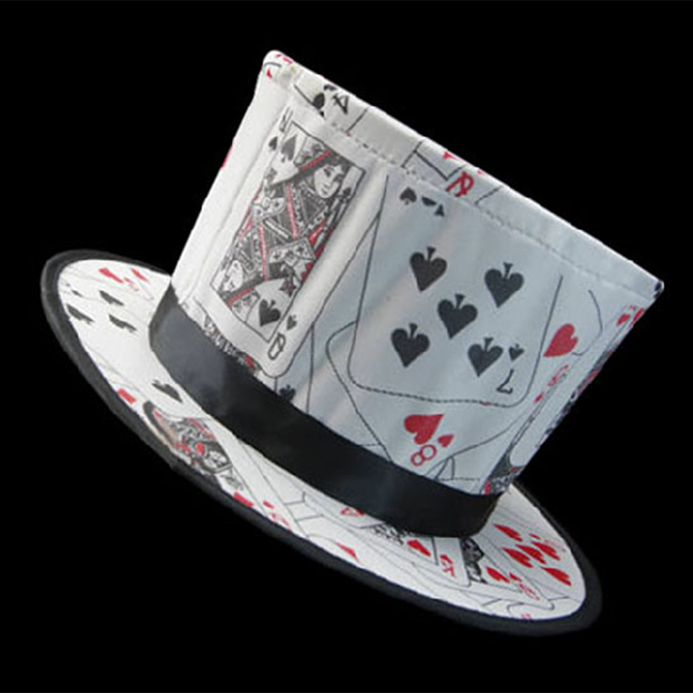 Primary image for Poker Pattern Folding Spring Magic Hat Magicians High-end Hat Magic Props Classi