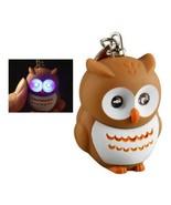 LED OWL KEYCHAIN with Light and Sound Bird Animal Hooting Noise Key Chai... - $6.95