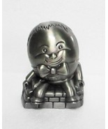 Humpty Dumpty Pewter Color Metal Bank - $6.95