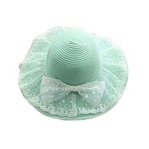 Girls Summer Sunscreen Large Brimmed Hat Child Children Folding Sun Hat image 1