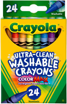 Crayola Assorted Washable Crayons - 1 pack of 24 Pieces - $9.59