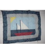 PersonallyByPat Custom Handcrafted Sailboat Sailing Quilted Baby Comforter - $99.99