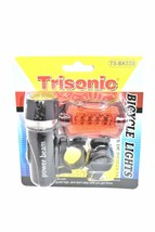 Bicycle Light Set With Power Beam and Safety Back Light With Brackets - $5.00