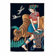 Hornet Park National Wind Maiden Door Decoration Bedroom Dressing Room Door Curt - $36.46