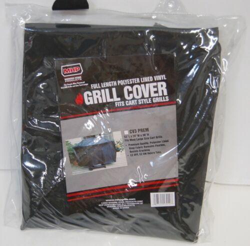 MHP CV3PREM Full Length Polyester Lined Vinyl Grill Cover Color Black