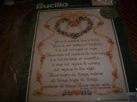 Bucilla Cross Stitch Kit 42356~Love Is Patient Love Is Kind - $12.00