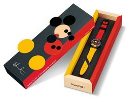 SWATCH Damien Hirst Spot Mickey Ladies Watch Limited Rare Genuine Disney NEW - $1,448.99