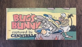 Bugs Bunny Captured by Cannibals Mini Comic C3 (1949) Rare Old Vintage Antique - $139.32