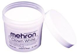 Clown White Mehron  Makeup Non Cracking  (16 oz) Professional Ships Fre... - $27.71