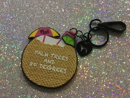 Victoria's Secret PINK palm tree drink w/ mirror keychain New - $9.49