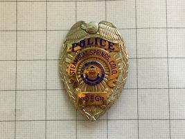 Obsolete Steamboat Springs Colorado Police Badge Carlton Gold Platiloy S... - $275.00