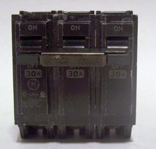 GE THQL3130 CIRCUIT BREAKER 3 POLE SWITCH 30 AMPS THQL 330 GENERAL ELECT... - $16.36