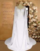New Modern Modern Style Deep V Neck Sparkly Lace Trumpet Mermaid Wedding Dress w image 5