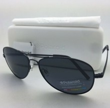 POLAROID Sunglasses PLD 1004/S 003 C3 61-15 Black Aviator Grey Polarized... - $119.98