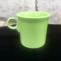 Fiesta Coffee Mug Chartreuse Ring Handle Contemporary Post 86 Homer Laughlin HLC - $11.99