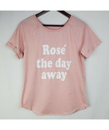 Grayson Threads Rose the Day Away Shirt Womens M Pink Graphic Top Tshirt  - $19.99