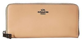 Coach Beechwood Smooth Leather Zip Around Large Wallet 53707 - $94.50