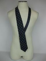 Tommy Hilfiger 100% Silk Blue Novelty Golf Motif Necktie Vintage Old School - $9.50
